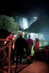 Marmore Falls lit up at night, guided tour at night